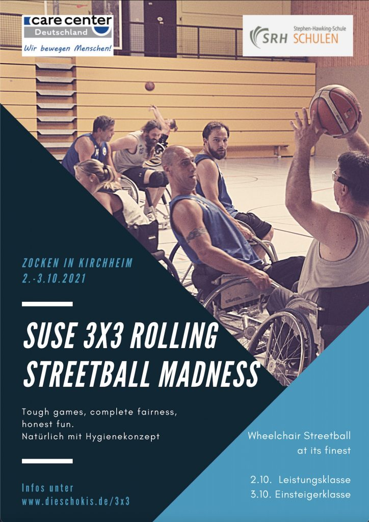 Plakat, Flyer des Suse 3x3 Rolling Streetball Madness 2021